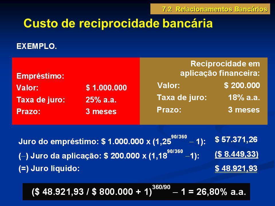 Custo de reciprocidade bancária