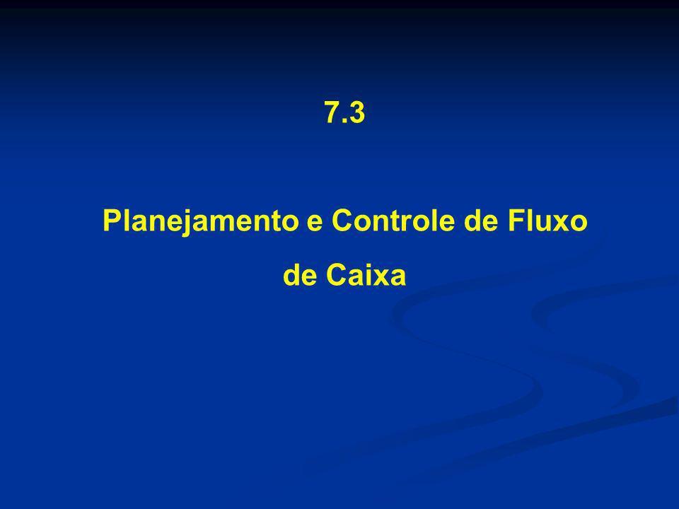 Planejamento e Controle de Fluxo de Caixa