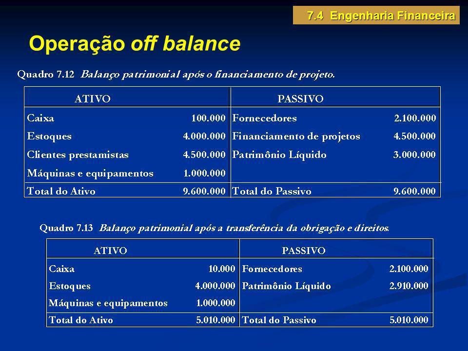 7.4 Engenharia Financeira