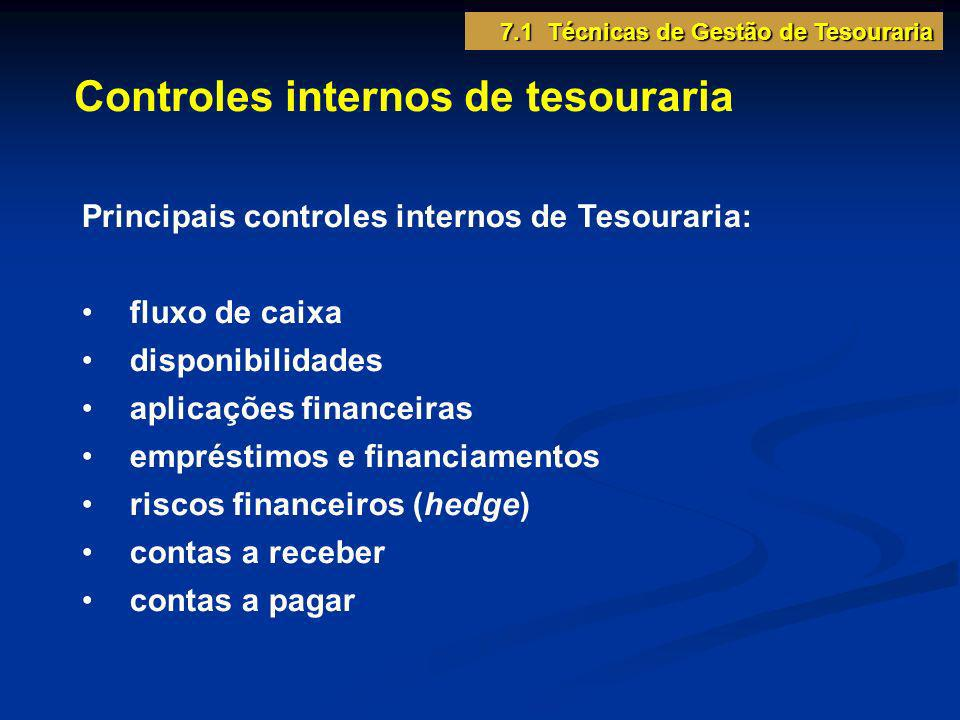 Controles internos de tesouraria