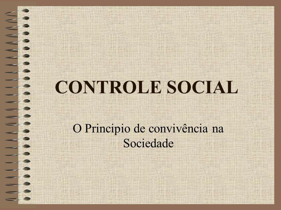 O Principio de convivência na Sociedade