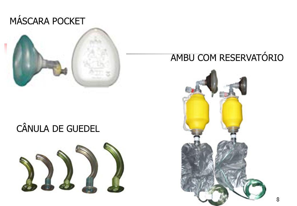 MÁSCARA POCKET AMBU COM RESERVATÓRIO CÂNULA DE GUEDEL