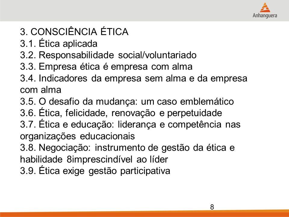 3. CONSCIÊNCIA ÉTICA 3. 1. Ética aplicada 3. 2