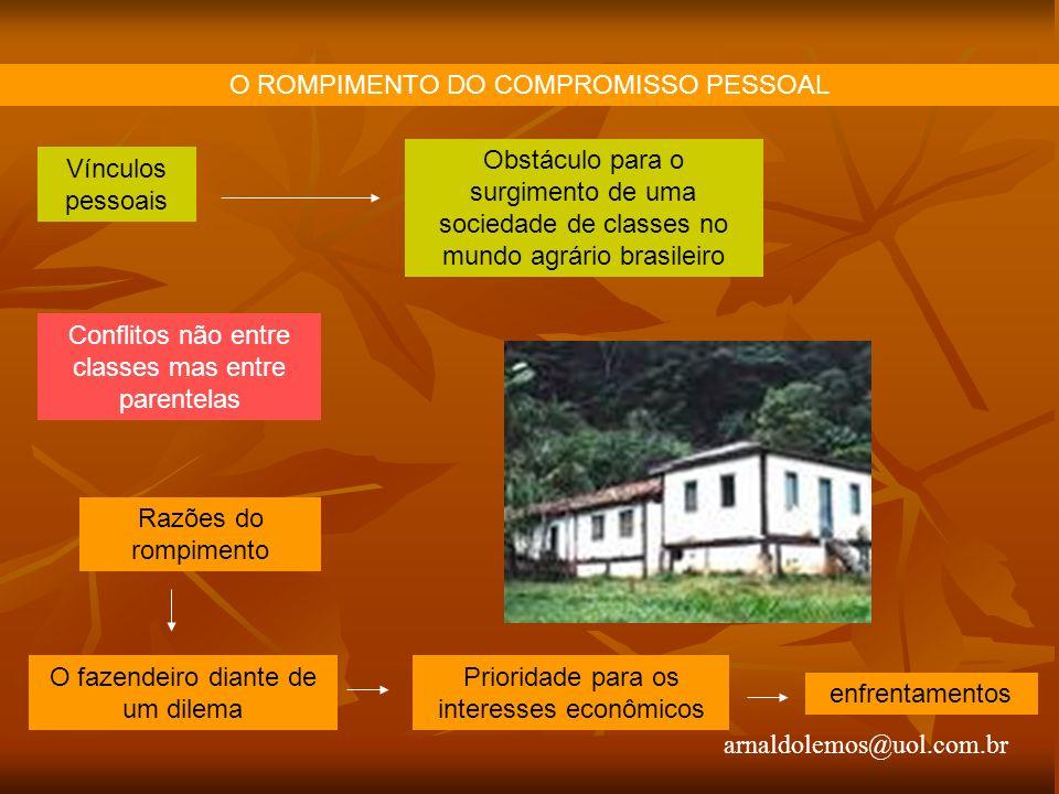 O ROMPIMENTO DO COMPROMISSO PESSOAL