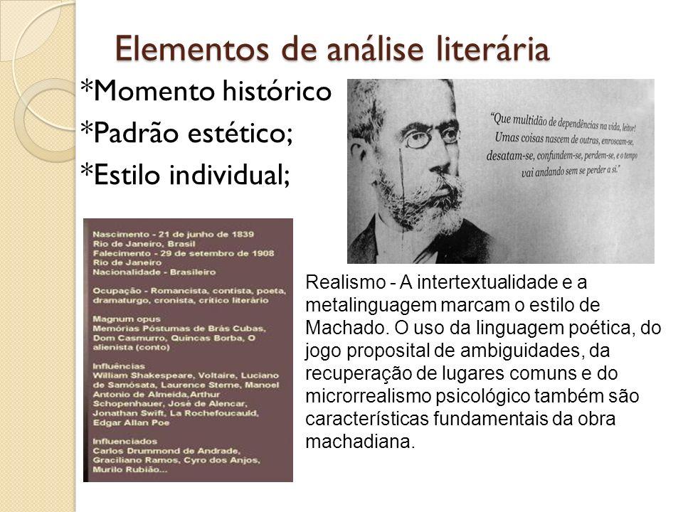 Elementos de análise literária