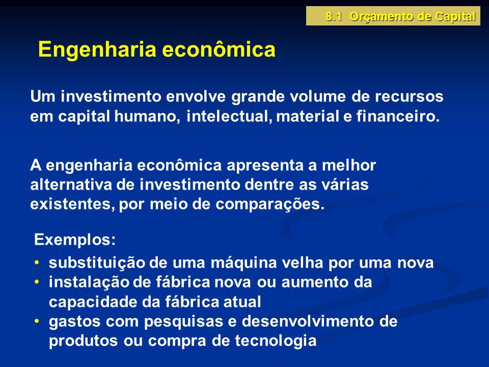 8.1 Orçamento de Capital Engenharia econômica.