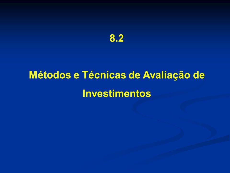Métodos e Técnicas de Avaliação de Investimentos