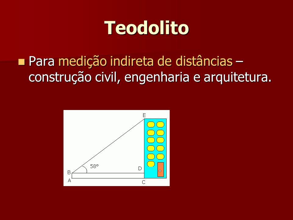 Teodolito Para medição indireta de distâncias – construção civil, engenharia e arquitetura.