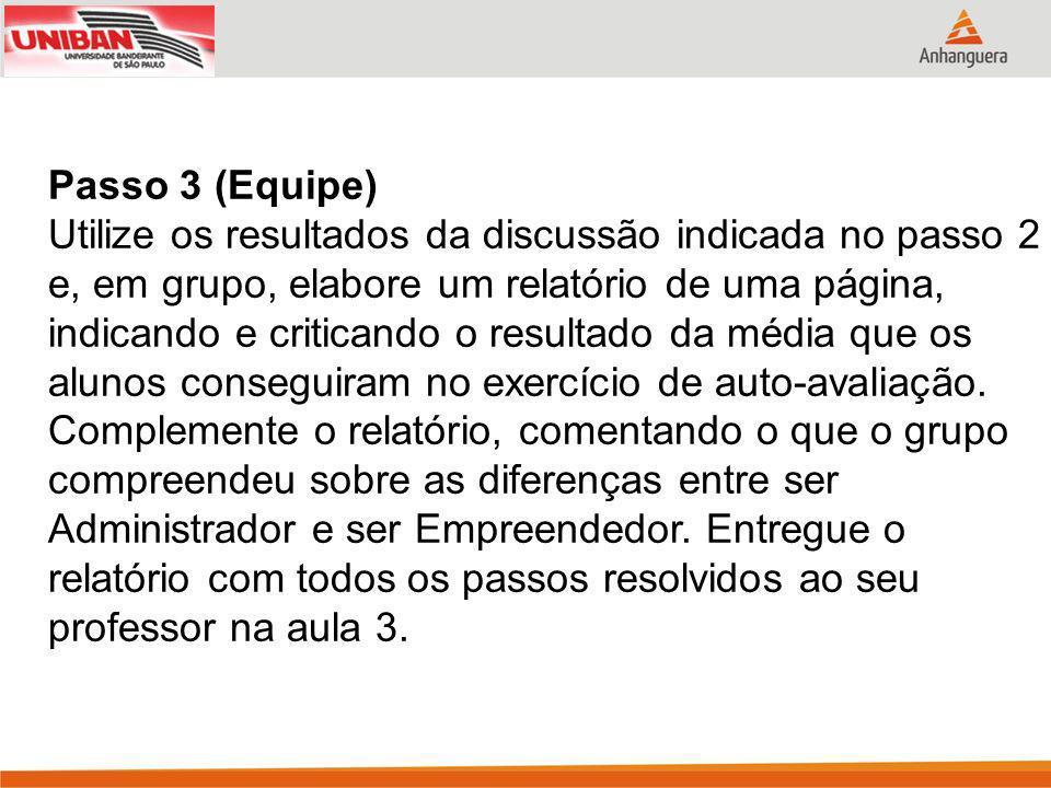 Passo 3 (Equipe)