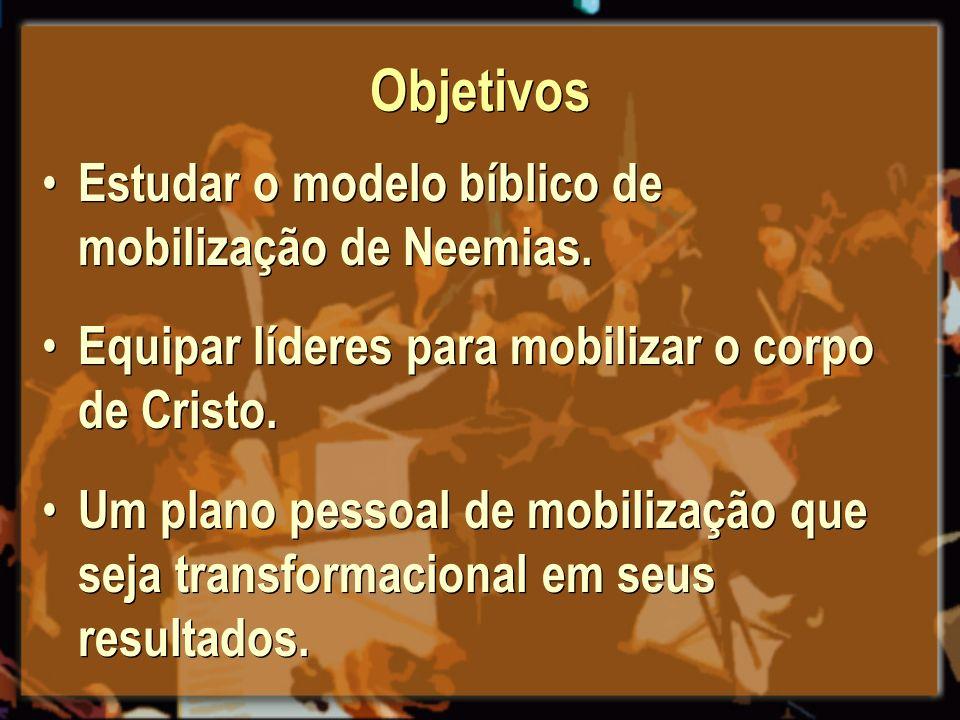 Objetivos Estudar o modelo bíblico de mobilização de Neemias.