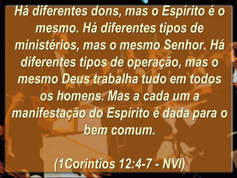 Há diferentes dons, mas o Espírito é o mesmo