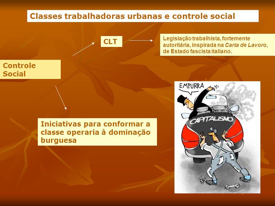 Classes trabalhadoras urbanas e controle social