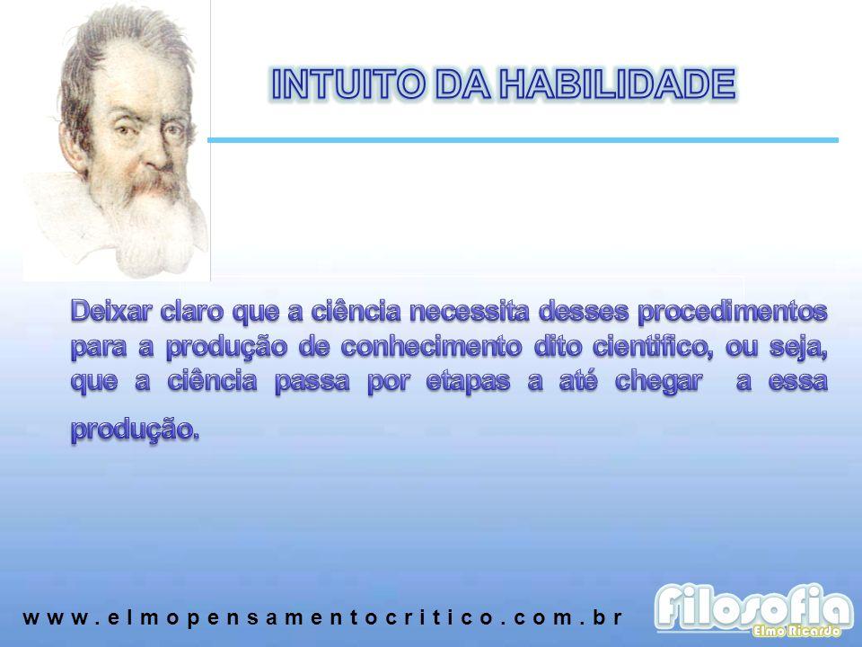 INTUITO DA HABILIDADE