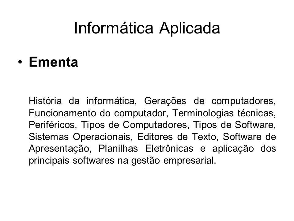 Informática Aplicada Ementa