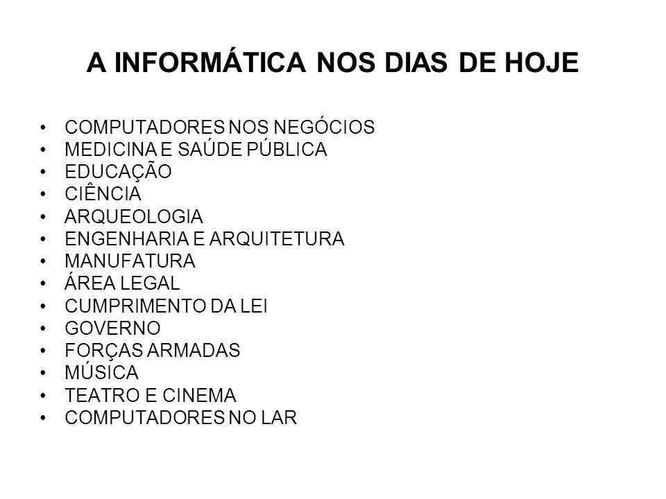 A INFORMÁTICA NOS DIAS DE HOJE