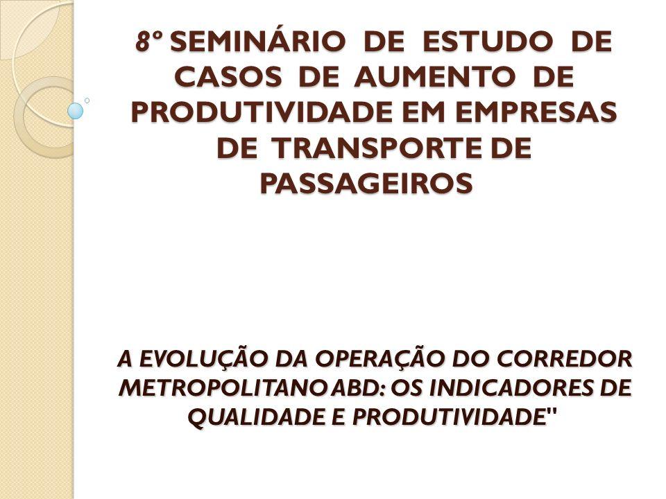 8º SEMINÁRIO DE ESTUDO DE CASOS DE AUMENTO DE PRODUTIVIDADE EM EMPRESAS DE TRANSPORTE DE PASSAGEIROS