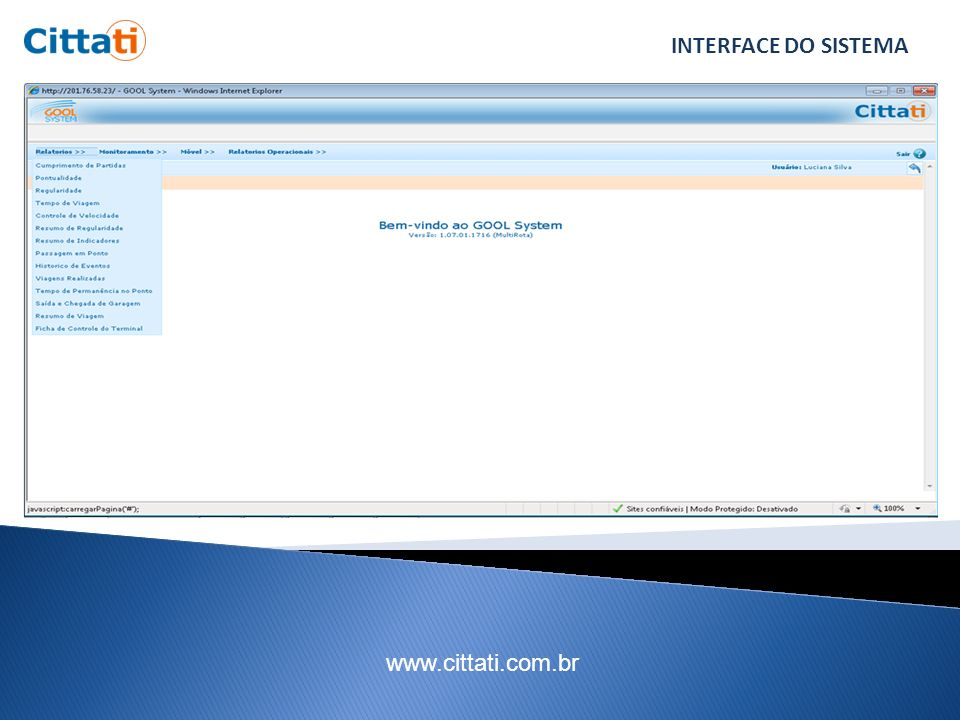INTERFACE DO SISTEMA