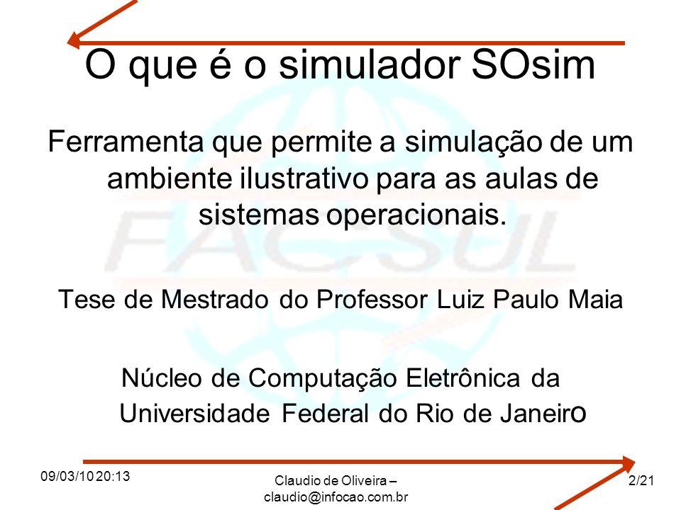 O que é o simulador SOsim