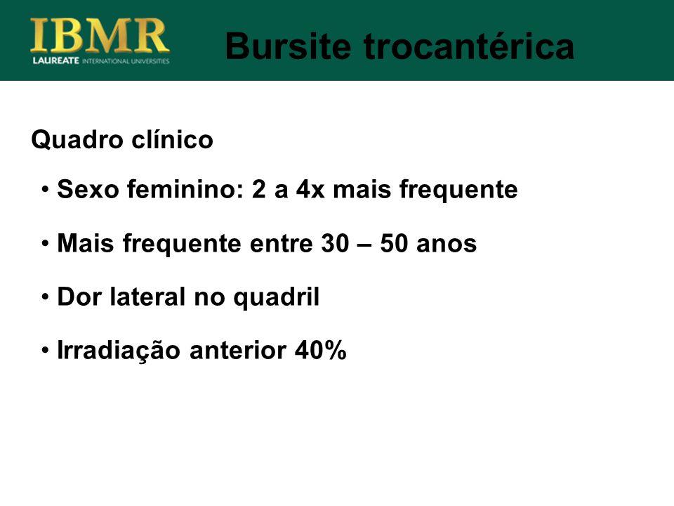 Bursite trocantérica Quadro clínico