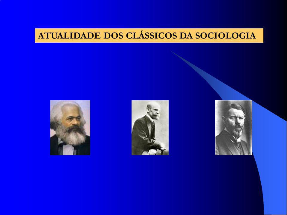 ATUALIDADE DOS CLÁSSICOS DA SOCIOLOGIA