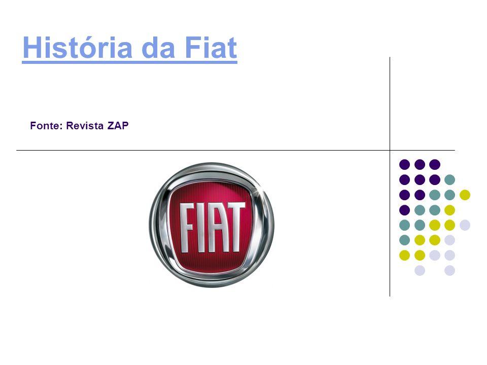 História da Fiat Fonte: Revista ZAP