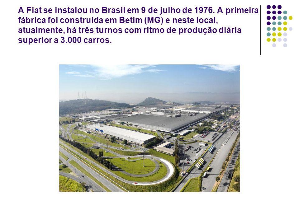 A Fiat se instalou no Brasil em 9 de julho de 1976