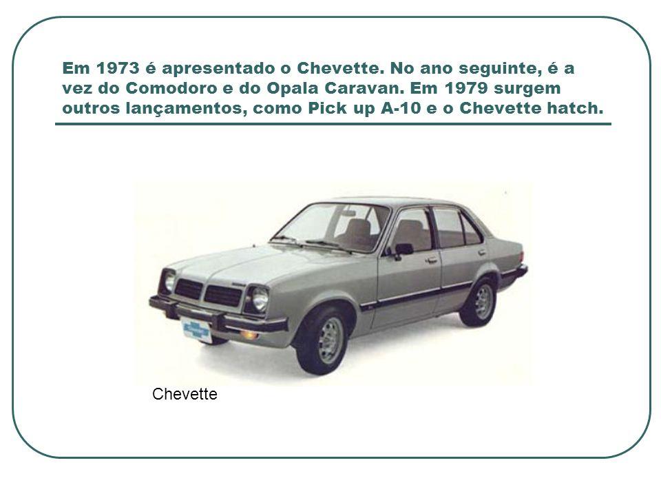 Em 1973 é apresentado o Chevette