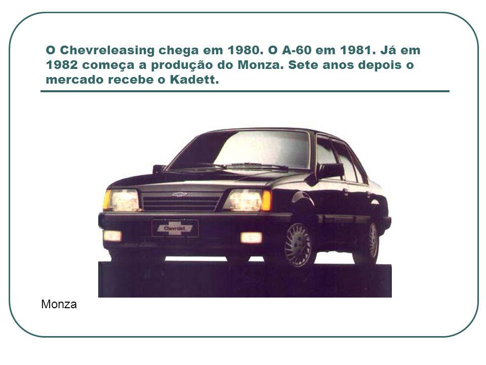 O Chevreleasing chega em 1980. O A-60 em 1981