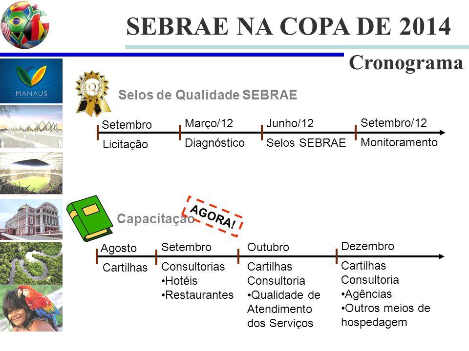SEBRAE NA COPA DE 2014 Cronograma Selos de Qualidade SEBRAE