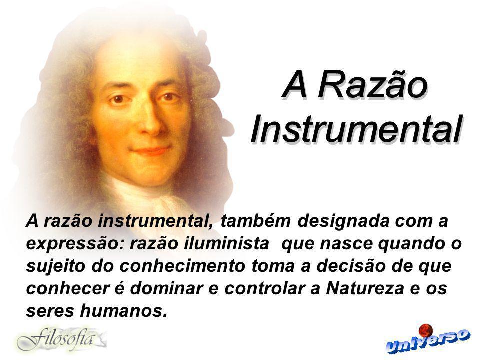 A Razão Instrumental.
