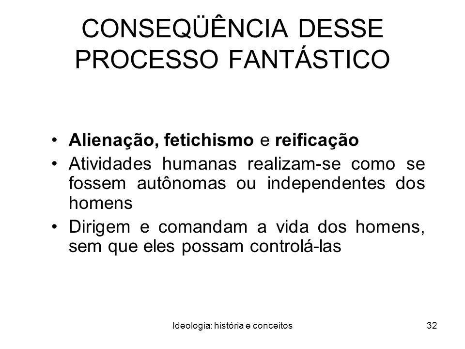 CONSEQÜÊNCIA DESSE PROCESSO FANTÁSTICO