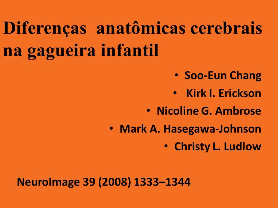 Diferenças anatômicas cerebrais na gagueira infantil