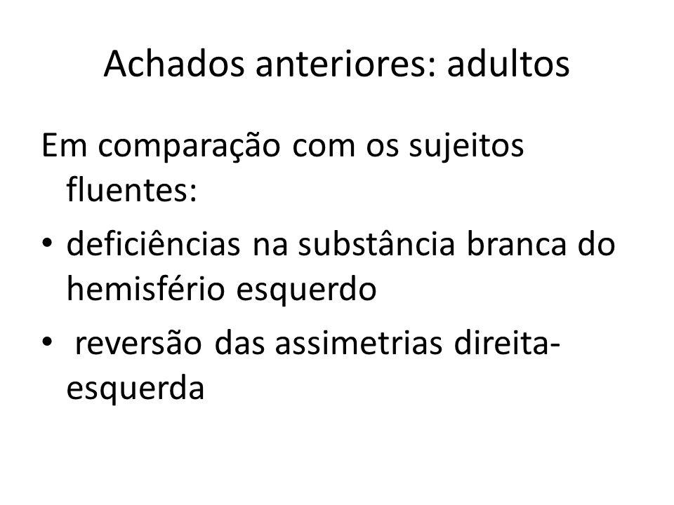 Achados anteriores: adultos
