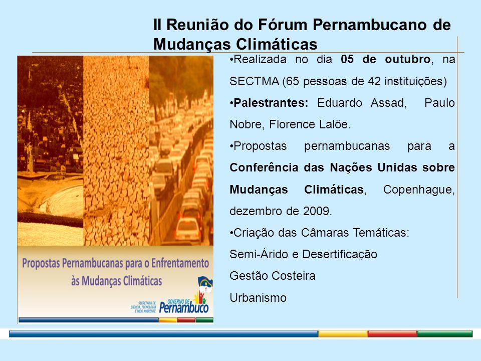 II Reunião do Fórum Pernambucano de Mudanças Climáticas