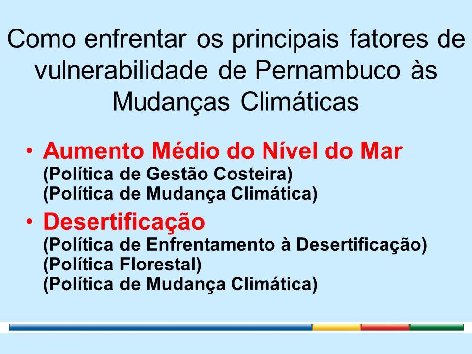 Como enfrentar os principais fatores de vulnerabilidade de Pernambuco às Mudanças Climáticas