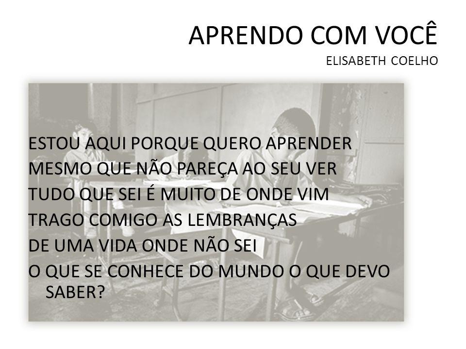 APRENDO COM VOCÊ ELISABETH COELHO