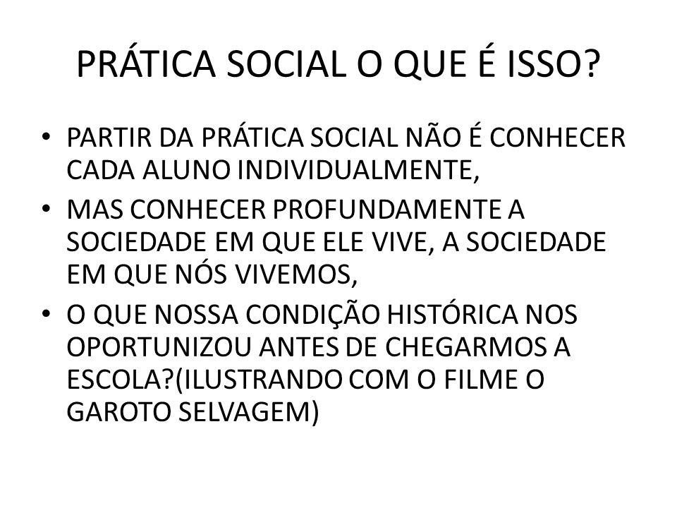 PRÁTICA SOCIAL O QUE É ISSO