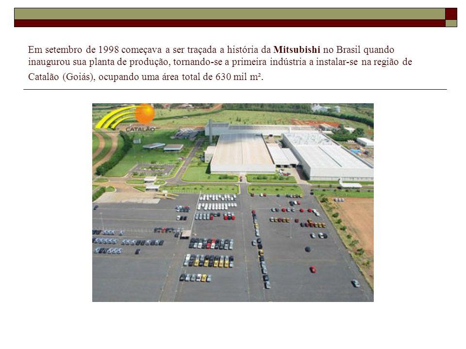Em setembro de 1998 começava a ser traçada a história da Mitsubishi no Brasil quando inaugurou sua planta de produção, tornando-se a primeira indústria a instalar-se na região de Catalão (Goiás), ocupando uma área total de 630 mil m².