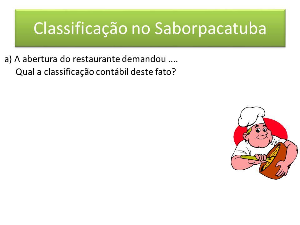 Classificação no Saborpacatuba