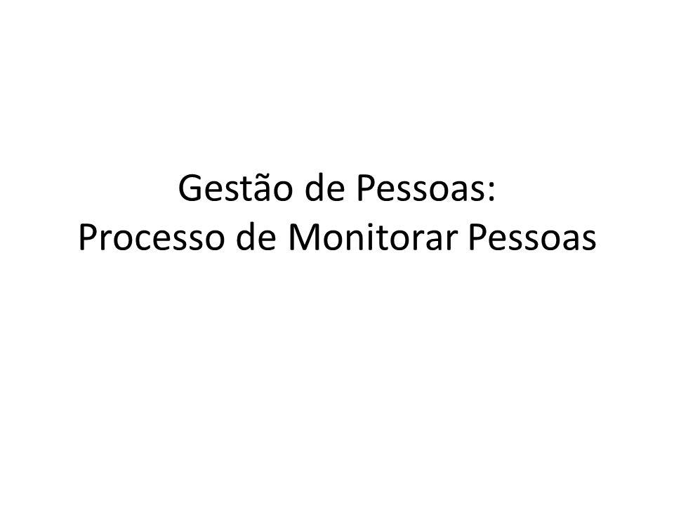 Gestão de Pessoas: Processo de Monitorar Pessoas
