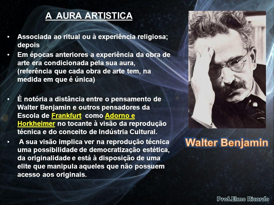 Walter Benjamin A AURA ARTISTICA