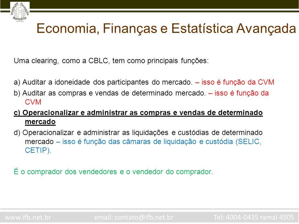 Economia, Finanças e Estatística Avançada