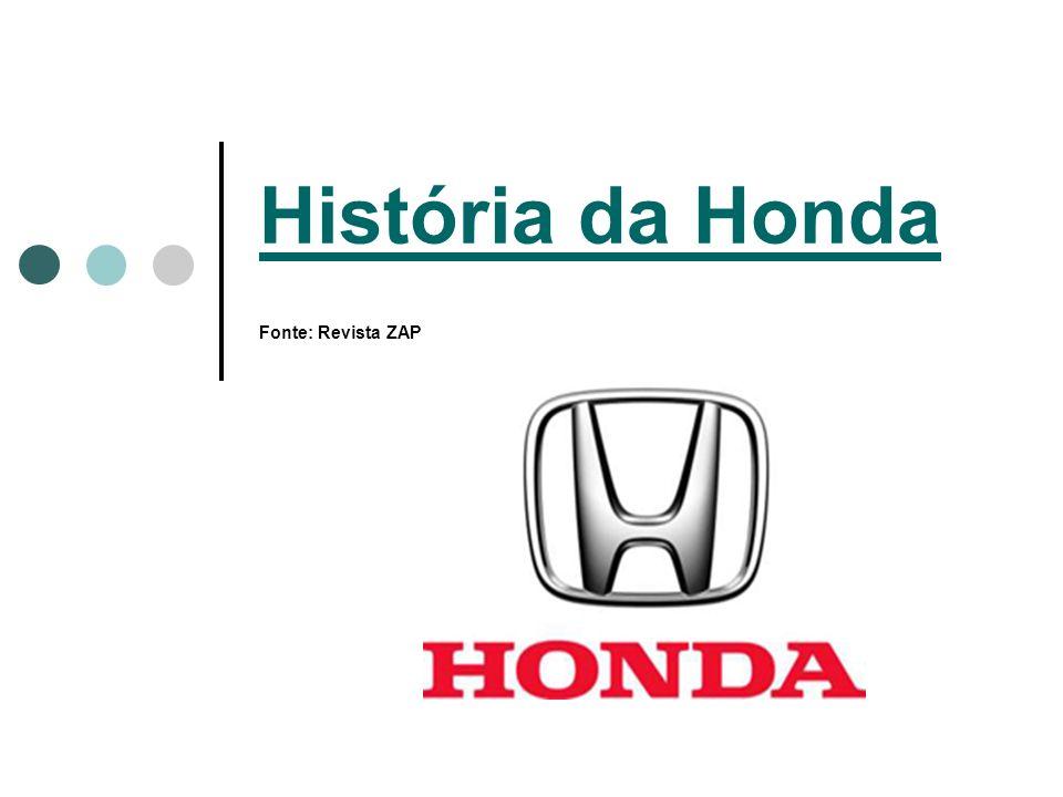História da Honda Fonte: Revista ZAP