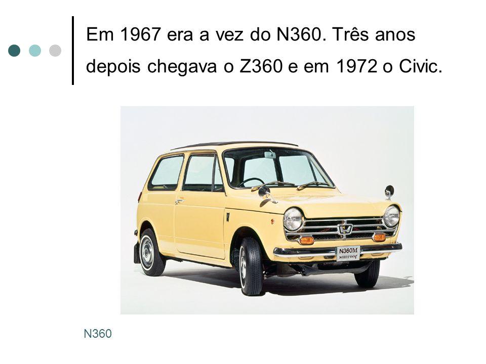 Em 1967 era a vez do N360. Três anos depois chegava o Z360 e em 1972 o Civic.