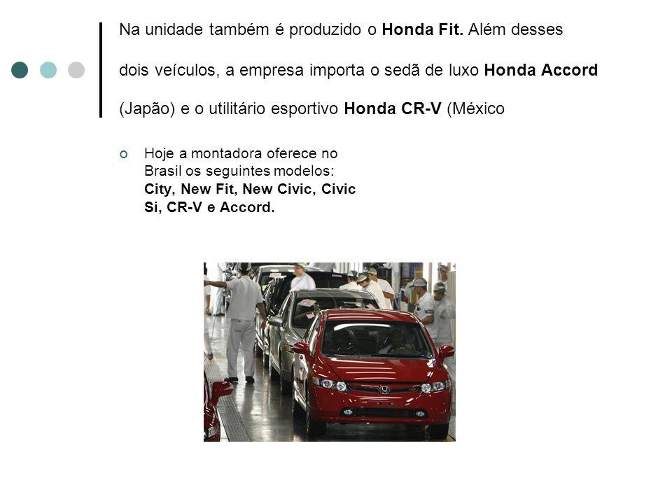 Na unidade também é produzido o Honda Fit