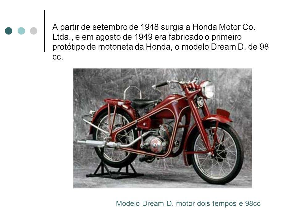 A partir de setembro de 1948 surgia a Honda Motor Co. Ltda
