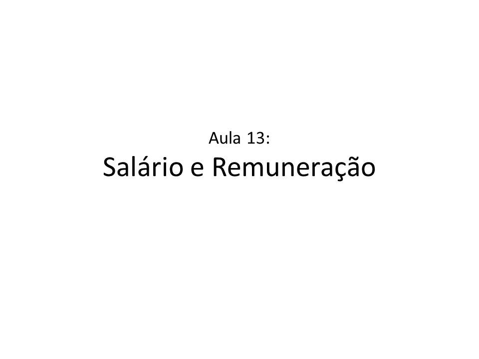 Aula 13: Salário e Remuneração