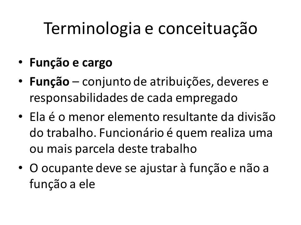 Terminologia e conceituação