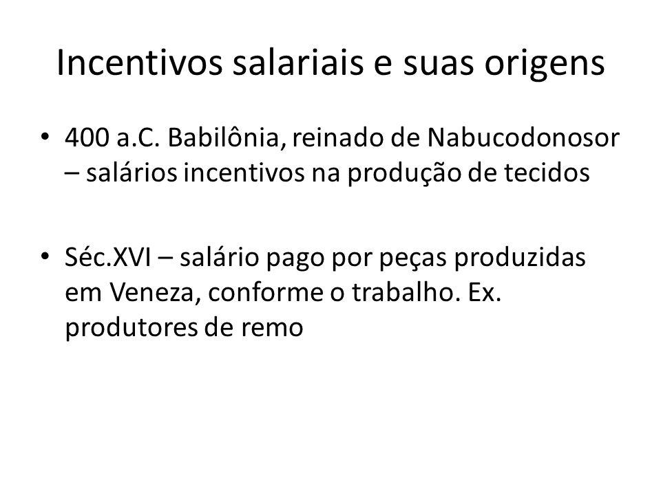 Incentivos salariais e suas origens