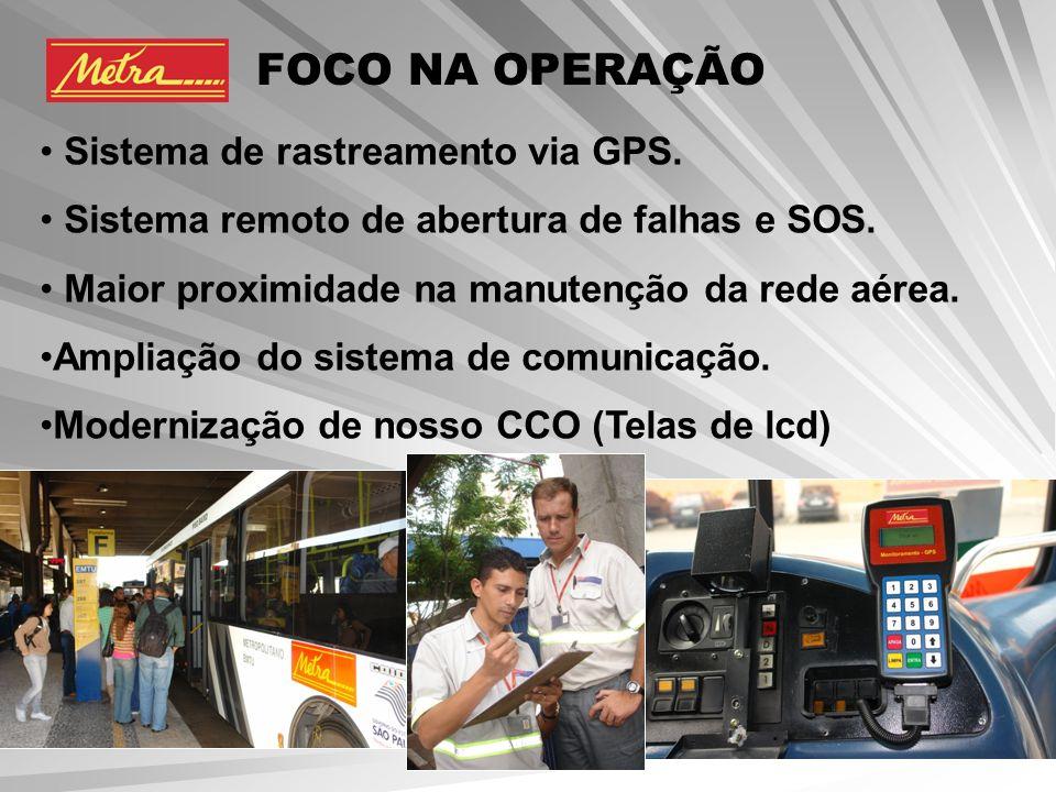 FOCO NA OPERAÇÃO Sistema de rastreamento via GPS.